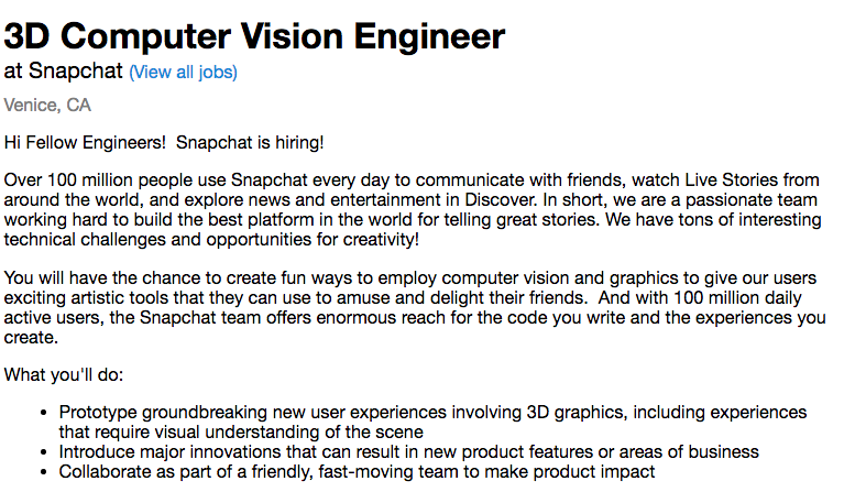 its-still-hiring-for-two-open-positions-in-its-snap-lab-department--although-all-snapchat-employees-involved-in-the-project-have-washed-their-linkedin-profiles-of-any-tell-tale-words